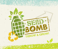 Keep Calm And Do Seed Bombs. City Gardening Activity Vector Eco Poster Concept. Stock Image