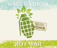 Keep Calm And Do Seed Bombs. City Gardening Activity Vector Eco Poster Concept. Royalty Free Stock Image