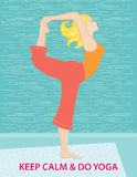 Keep Calm and Do Yoga Stock Photography