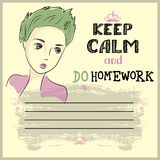 Keep calm and do your homework Stock Photos