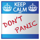 Keep Calm And Don`t Panic Sticker Royalty Free Stock Image
