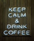 Drink coffee neon sign Stock Photography