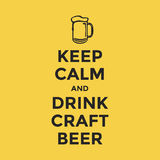 Keep calm and drink craft beer. Vector illustration Stock Photo