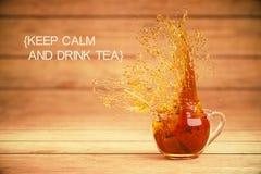 Keep calm and drink tea Stock Photography