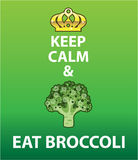 Keep Calm and Eat Broccoli vector Royalty Free Stock Photo