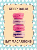 Keep calm eat macaroons Stock Photography