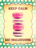 Keep calm eat macaroons Royalty Free Stock Photo