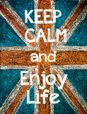 Keep Calm and Enjoy Life Royalty Free Stock Photography
