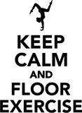 Keep calm and floor exercise. Sports vector Royalty Free Stock Photography