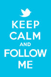 Keep calm and follow me Royalty Free Stock Photo