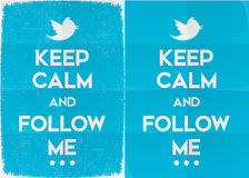 Keep Calm and Follow Me on Twitter Stock Image