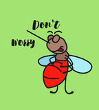 Keep calm funny cartoon mosquito poster Royalty Free Stock Photography
