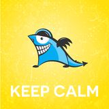 Keep calm funny character Royalty Free Stock Photos