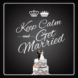 Keep Calm and Get Married design Stock Photos