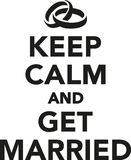 Keep calm and get married. Vector Royalty Free Stock Images