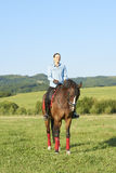 Keep calm and go horse riding Royalty Free Stock Photography
