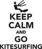 Keep calm and go kitesurfing. Vector Stock Images