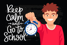 Keep calm and go to school Royalty Free Stock Images