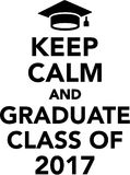 Keep calm and graduate class of 2017 Stock Photo