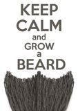 Keep Calm and grow a Beard Royalty Free Stock Image
