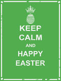 Keep calm and happy Easter Stock Photos