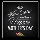 Keep calm happy mother�s day design Stock Photography
