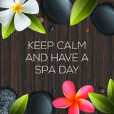 Keep calm and have a Spa day Stock Photography