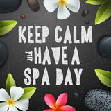 Keep calm have a Spa day Royalty Free Stock Photo