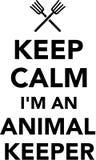 Keep calm I`m an Animal Keeper. Vector icon Stock Photo