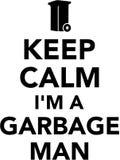 Keep calm I`m a garbage man Royalty Free Stock Photo