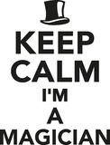 Keep calm I`m a Magician Royalty Free Stock Image