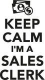 Keep calm I`m a Sales clerk Royalty Free Stock Photos