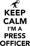 Keep calm I am a press officer Royalty Free Stock Image
