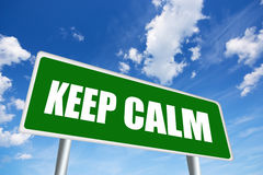 Keep calm. Illustrated road sign Stock Photography