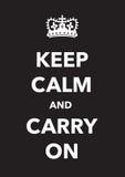 Keep calm imitation poster Stock Image