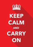Keep calm imitation poster. A red keep calm imitation poster Stock Photos