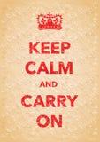 Keep calm imitation poster Stock Photos