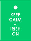 Keep calm and irish on Stock Images