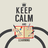 Keep Calm And Learning. Stock Photography