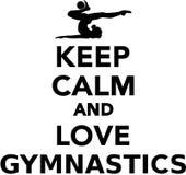 Keep calm and love gymnastics. Vector Royalty Free Stock Photography
