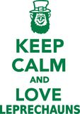 Keep calm and love leprechauns. Vector Stock Images