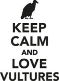 Keep calm and love vultures Royalty Free Stock Photos