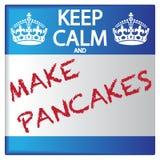 Keep Calm And Make Pancakes Sticker Stock Image