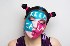 Keep calm make up Stock Photo
