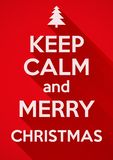 Keep Calm and Merry Christmas. vector background. Royalty Free Stock Photography