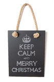 Keep calm and Merry Christmas Stock Images