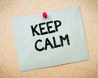 Keep Calm Message Stock Photos