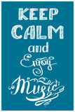 Keep calm and music Royalty Free Stock Images