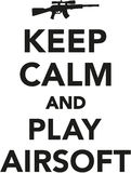 Keep calm and play airsoft. Icon Stock Image