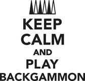 Keep calm and play Backgammon Royalty Free Stock Photography